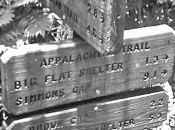 Big Flat Shelter sign