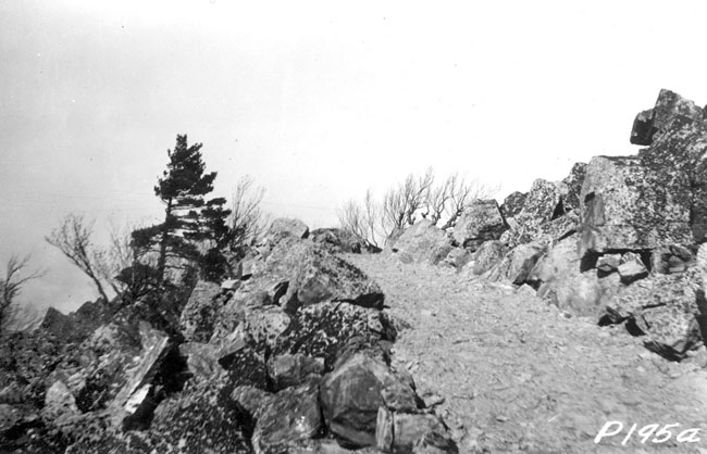 North-bound A.T. on Black Rock as constructed by the CCC